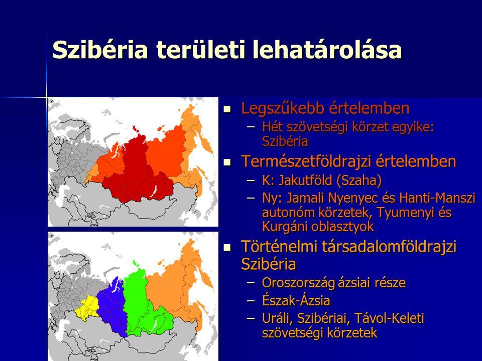 Szibéria területi lehatárolása