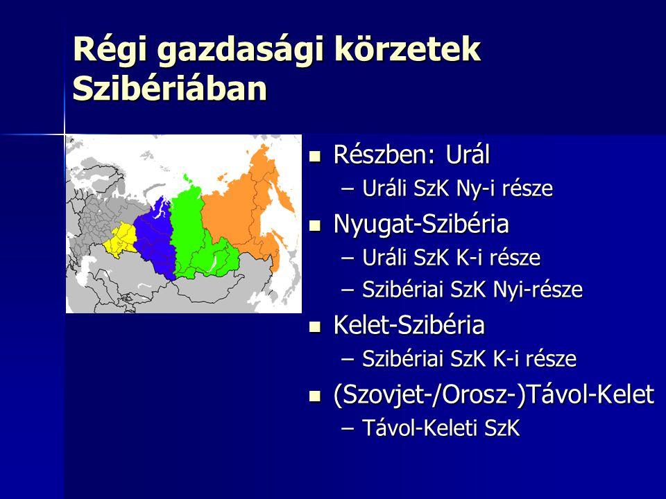 Régi gazdasági körzetek Szibériában
