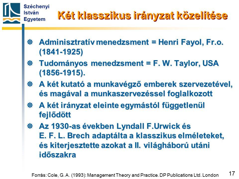 Adminisztratív (irányító) menedzsment