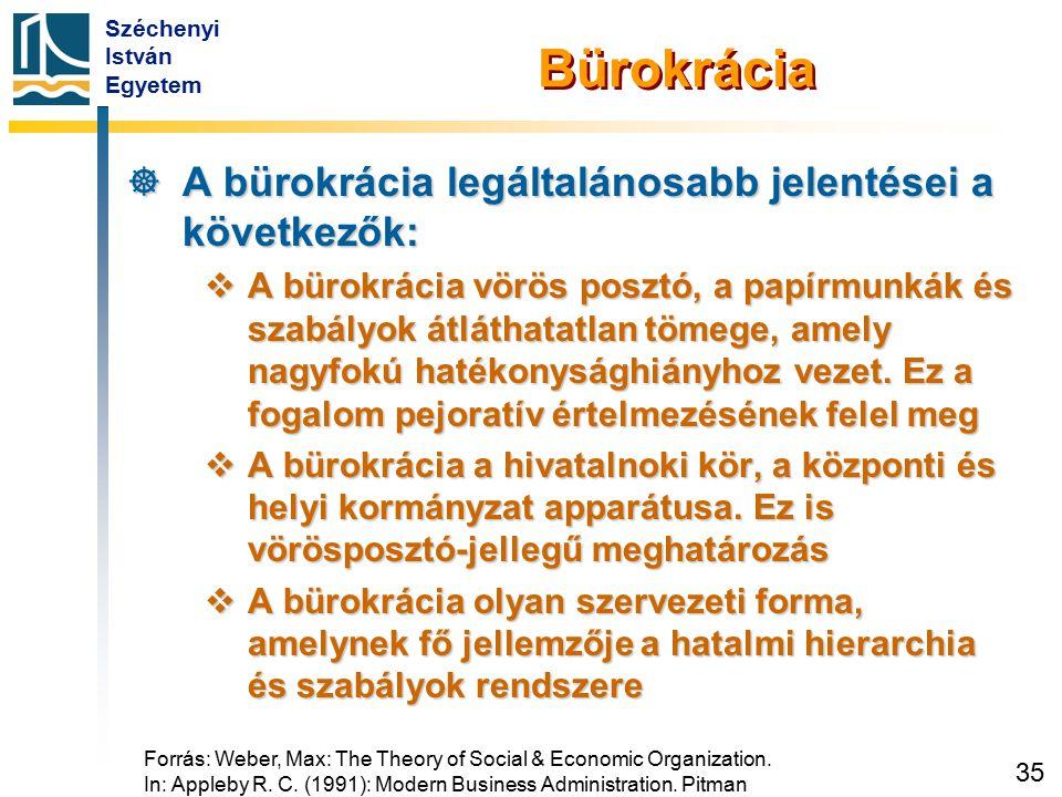Weber bürokrácia-felfogása