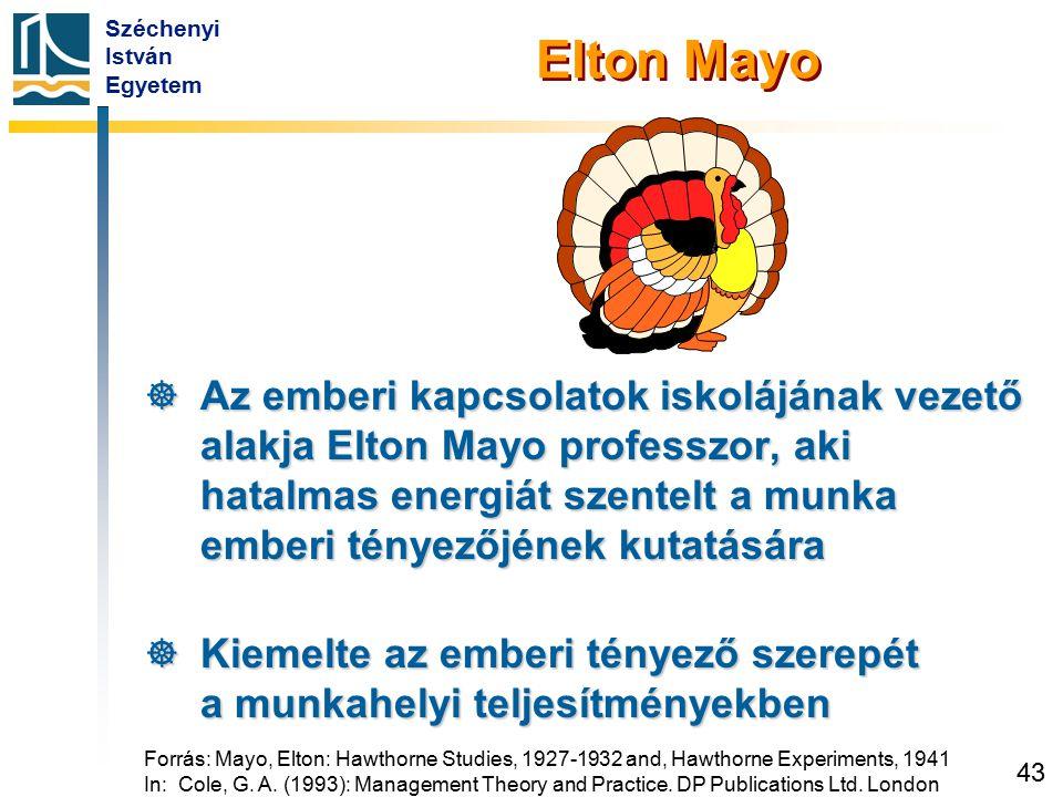 Elton Mayo következtetései