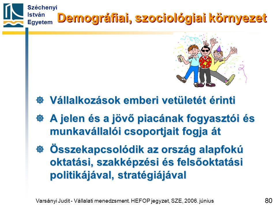 Demográfiai, szociológiai környezet