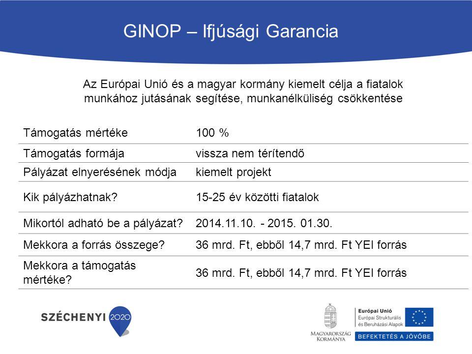 GINOP – Ifjúsági Garancia