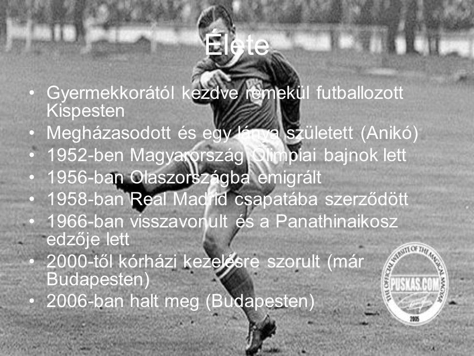 Élete Gyermekkorától kezdve remekül futballozott Kispesten