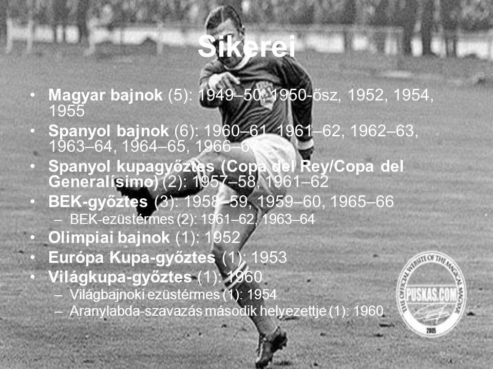 Sikerei Magyar bajnok (5): 1949–50, 1950-ősz, 1952, 1954, 1955