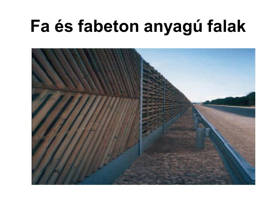 Fa és fabeton anyagú falak