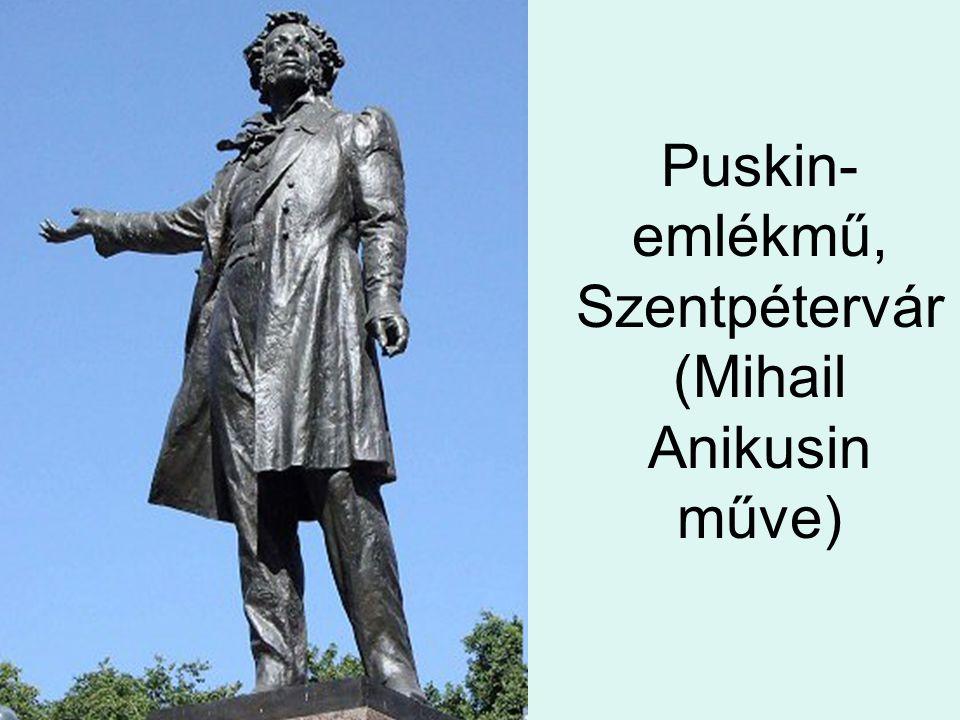 Puskin-emlékmű, Szentpétervár (Mihail Anikusin műve)