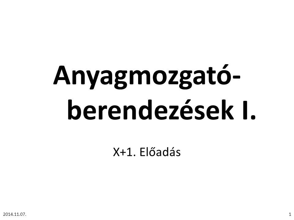 Anyagmozgató- berendezések I.