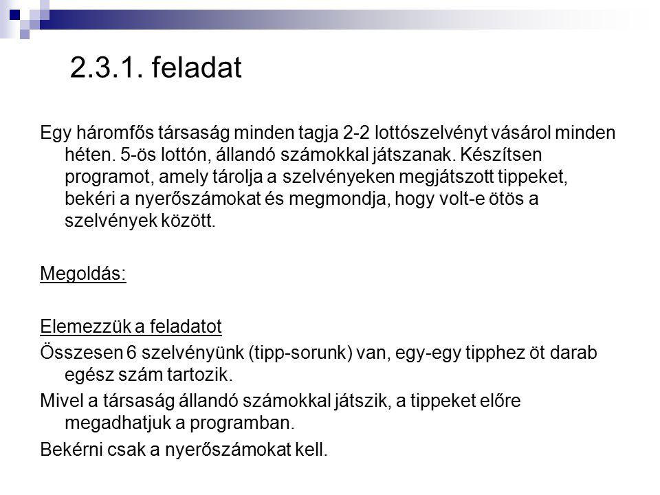2.3.1. feladat