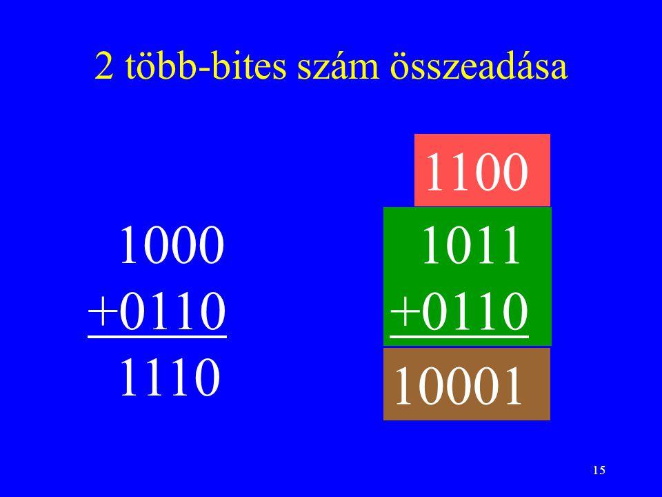 2 több-bites szám összeadása