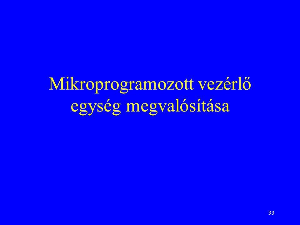 Mikroprogramozott vezérlő egység megvalósítása