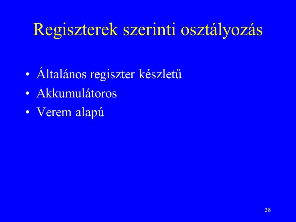 Regiszterek szerinti osztályozás