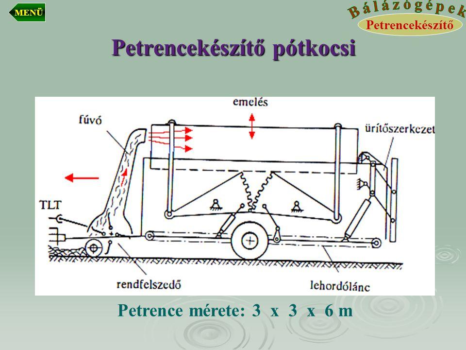 Petrencekészítő pótkocsi