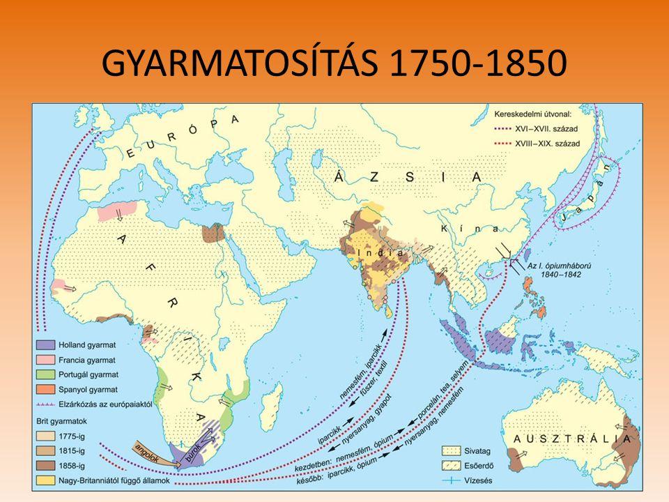 GYARMATOSÍTÁS 1750-1850