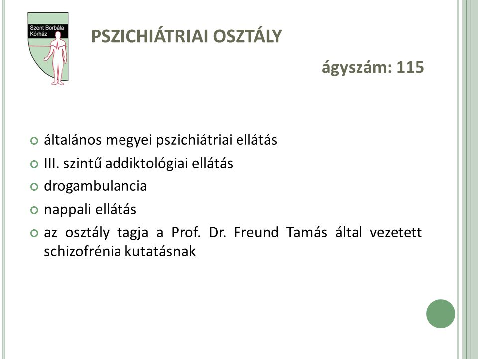 Pszichiátriai osztály