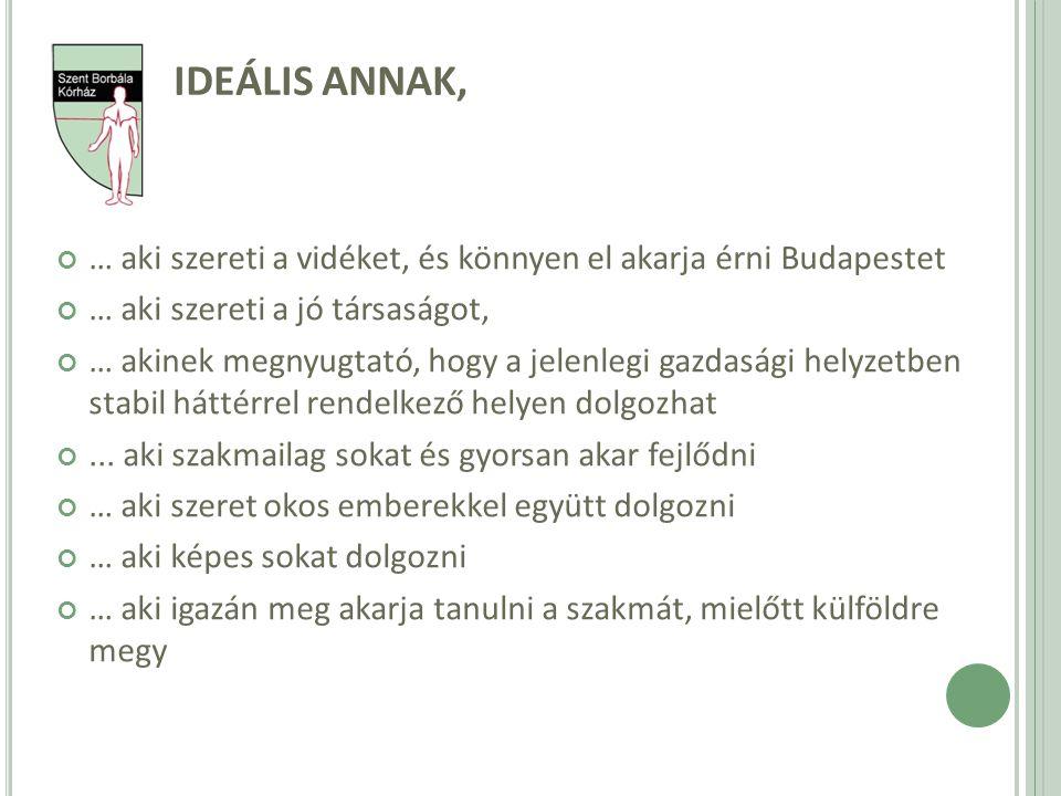 IDEÁLIS ANNAK, … aki szereti a vidéket, és könnyen el akarja érni Budapestet. … aki szereti a jó társaságot,