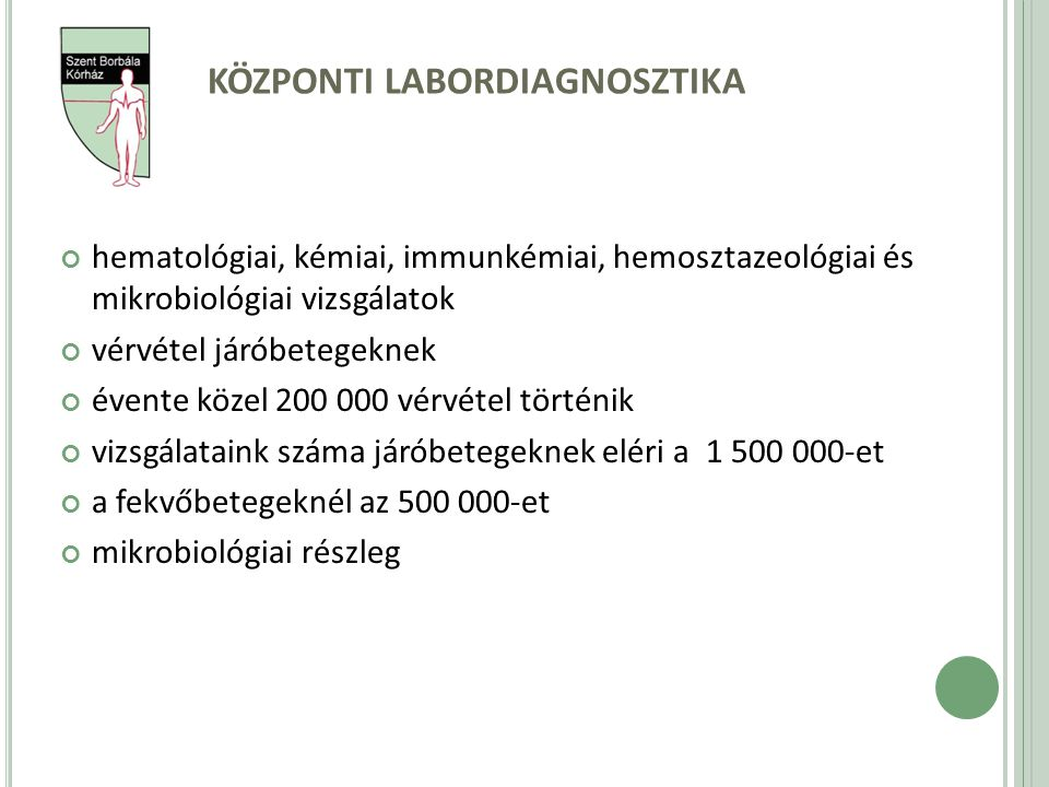 központi labordiagnosztika