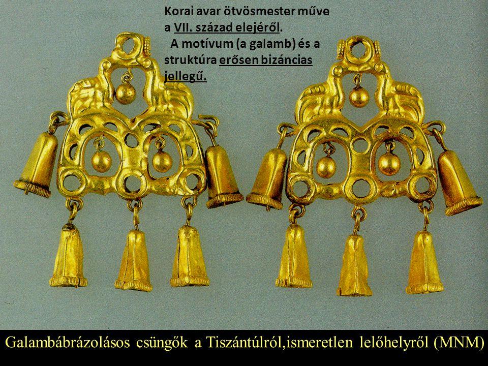Galambábrázolásos csüngők a Tiszántúlról,ismeretlen lelőhelyről (MNM)