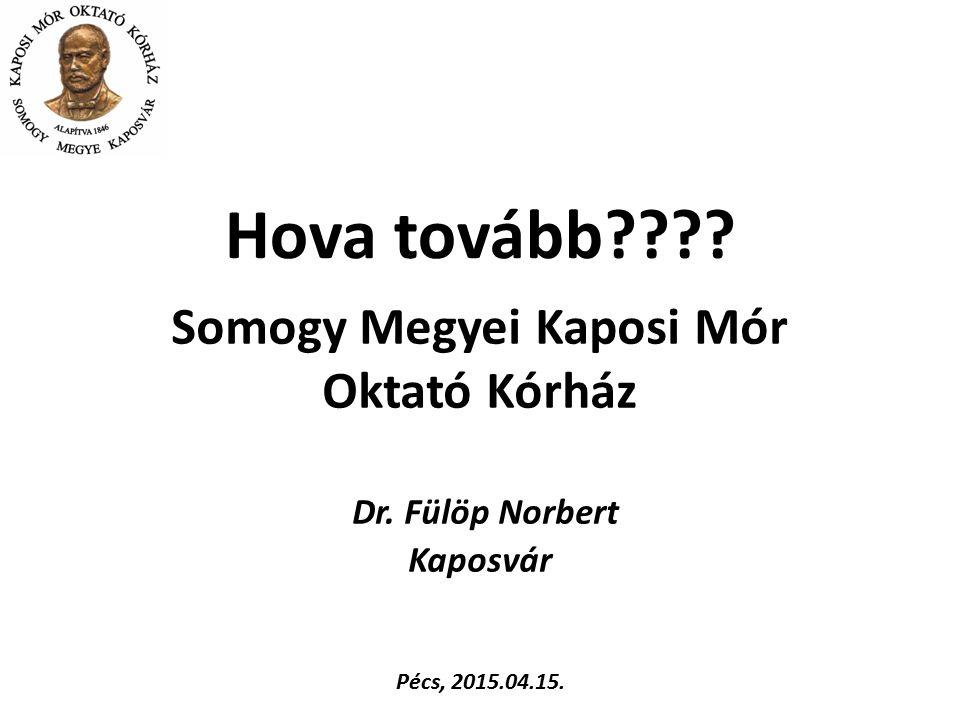 Somogy Megyei Kaposi Mór Oktató Kórház Dr. Fülöp Norbert Kaposvár