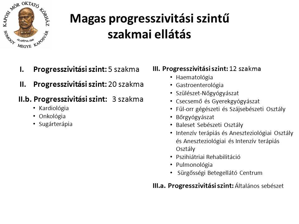 Magas progresszivitási szintű szakmai ellátás