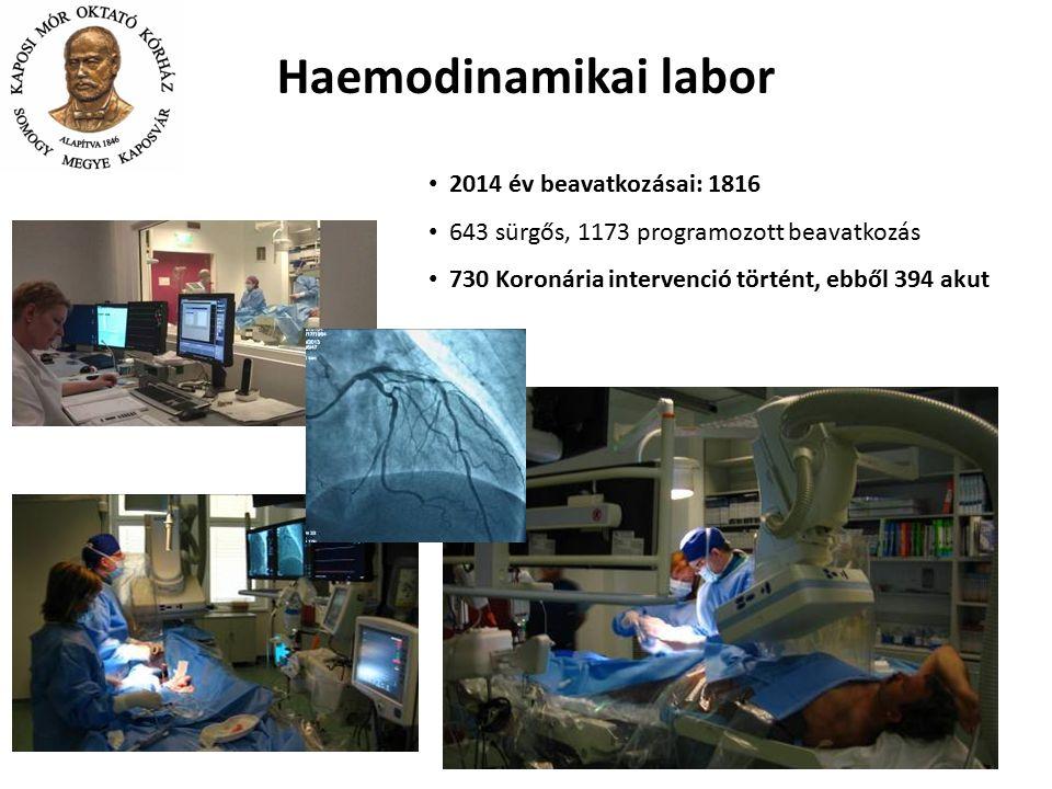 Haemodinamikai labor 2014 év beavatkozásai: 1816