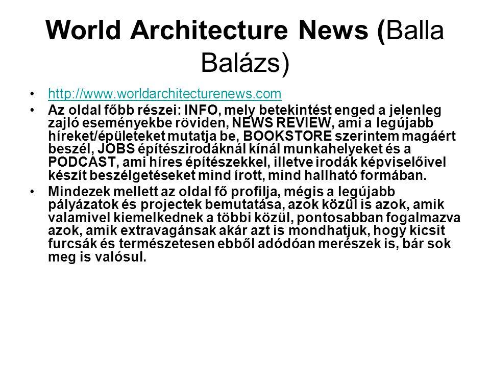 World Architecture News (Balla Balázs)