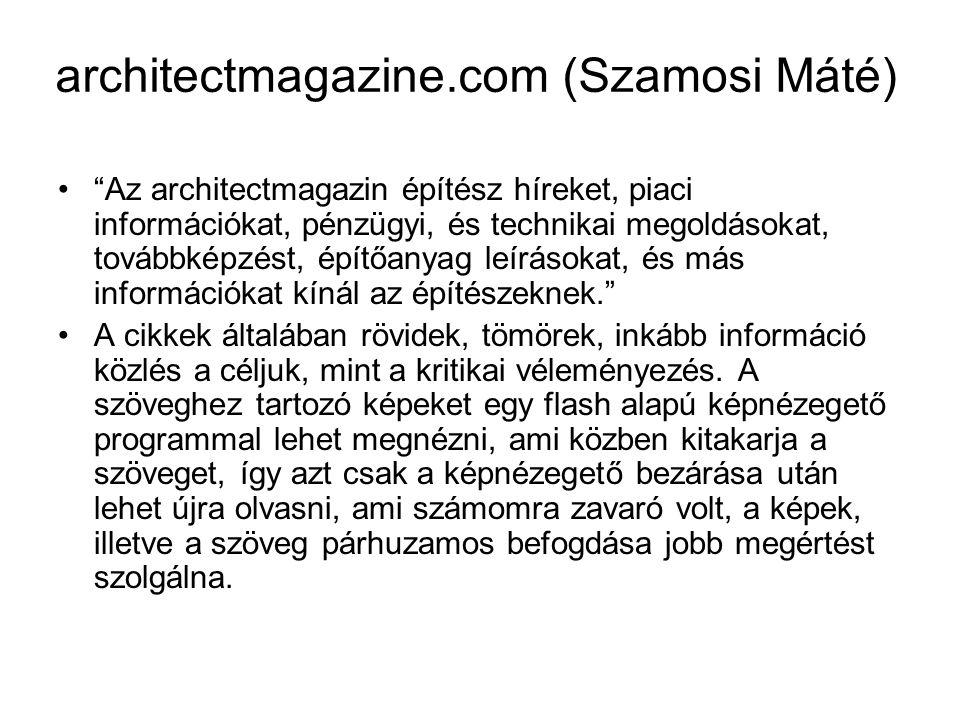 architectmagazine.com (Szamosi Máté)