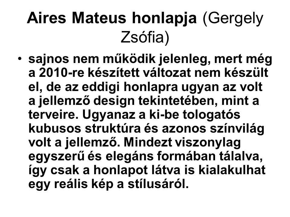Aires Mateus honlapja (Gergely Zsófia)