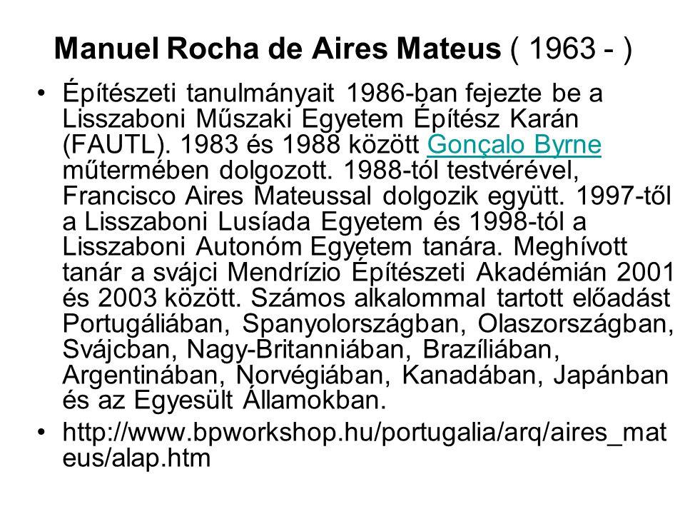 Manuel Rocha de Aires Mateus ( 1963 - )