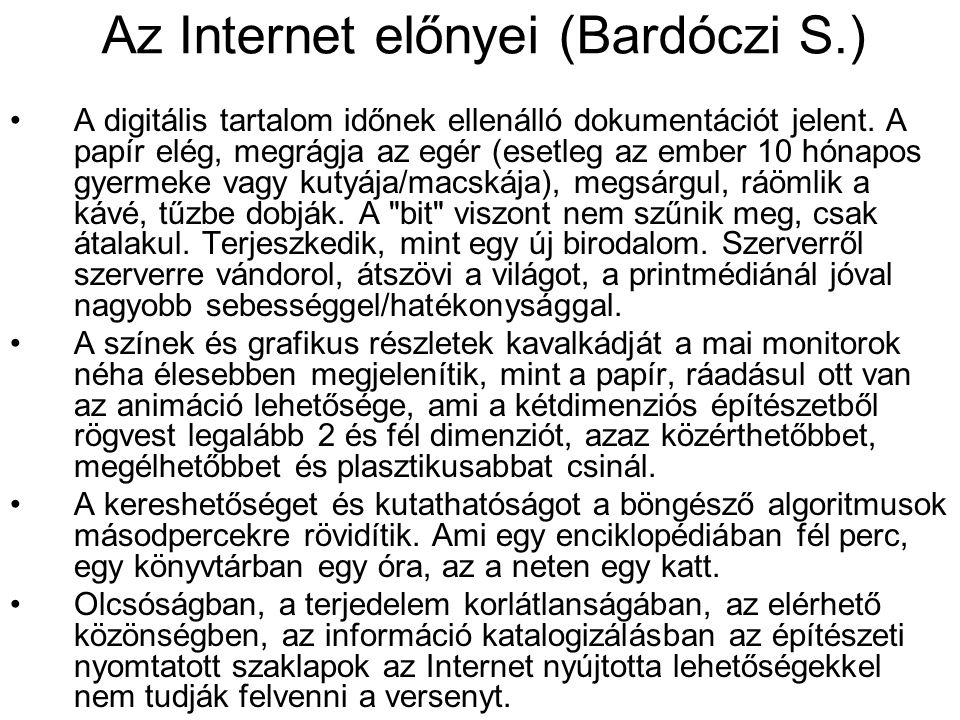 Az Internet előnyei (Bardóczi S.)