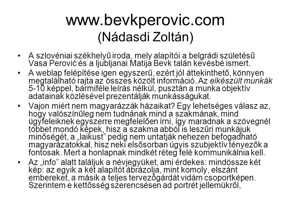 www.bevkperovic.com (Nádasdi Zoltán)