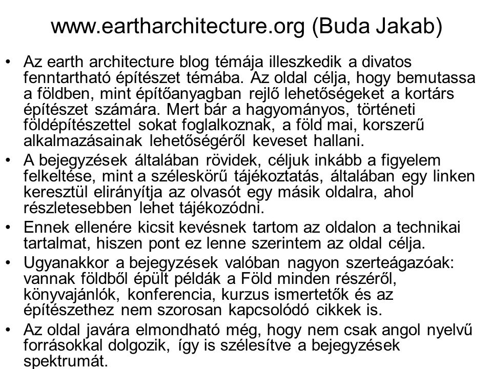 www.eartharchitecture.org (Buda Jakab)