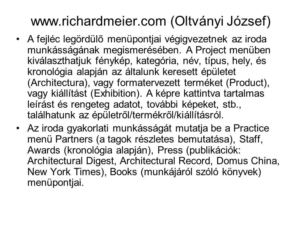 www.richardmeier.com (Oltványi József)