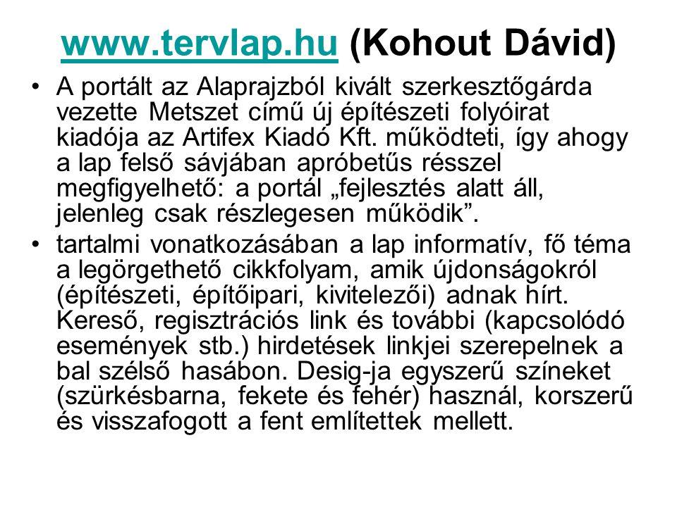 www.tervlap.hu (Kohout Dávid)