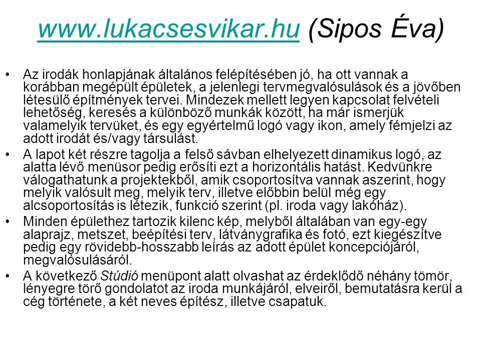 www.lukacsesvikar.hu (Sipos Éva)