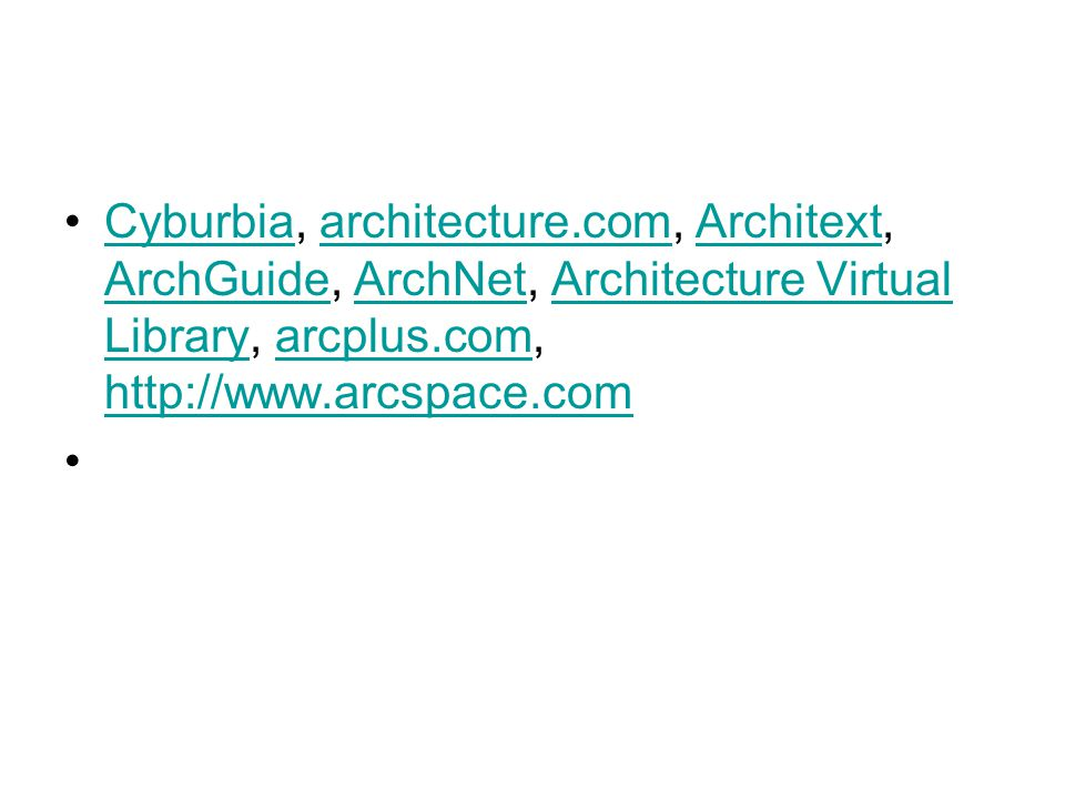 Cyburbia, architecture