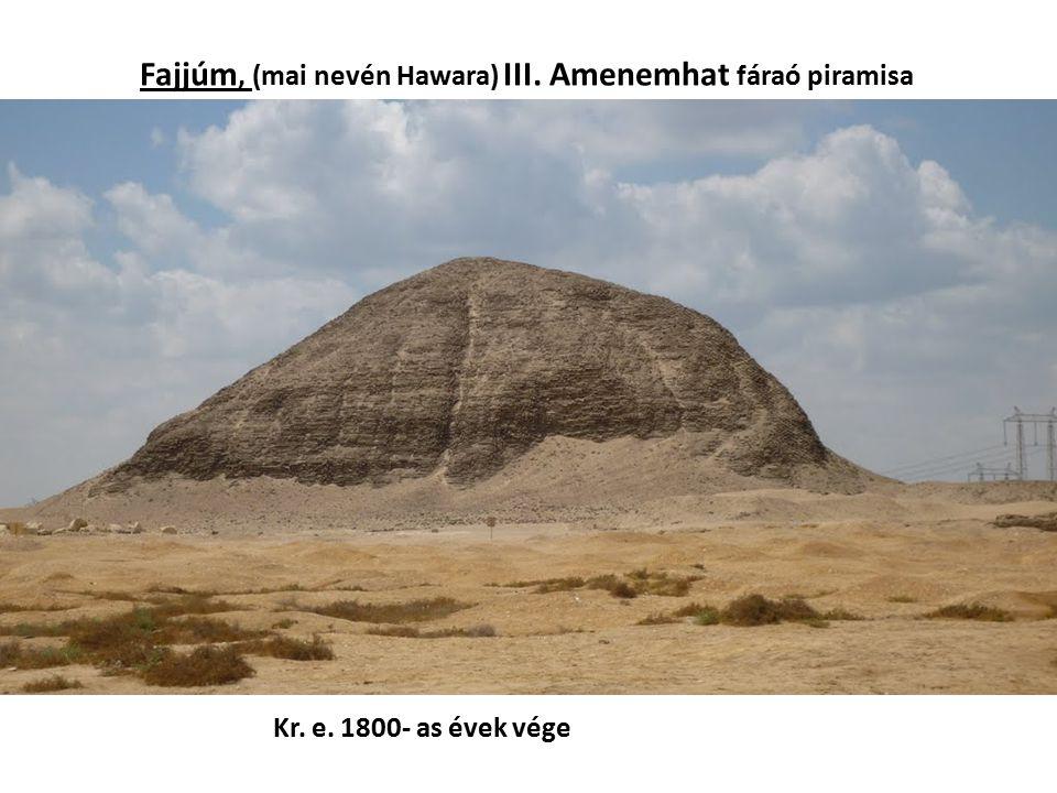 Fajjúm, (mai nevén Hawara) III. Amenemhat fáraó piramisa