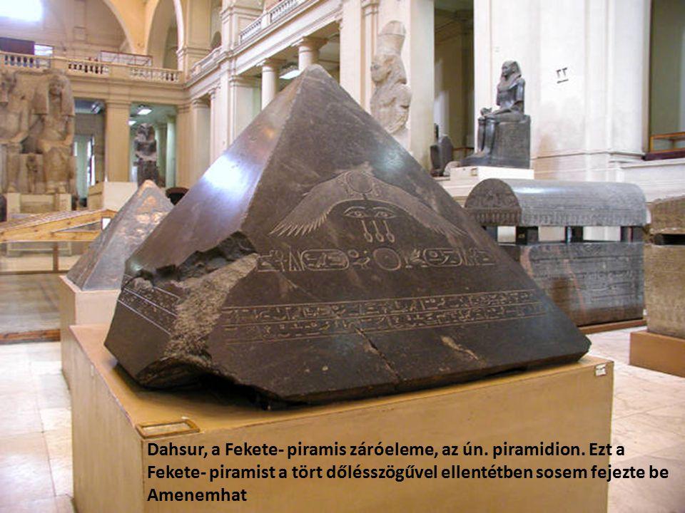 Dahsur, a Fekete- piramis záróeleme, az ún. piramidion