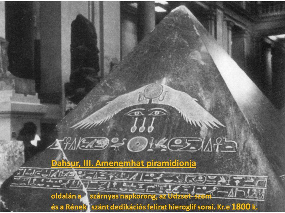 Dahsur, III. Amenemhat piramidionja