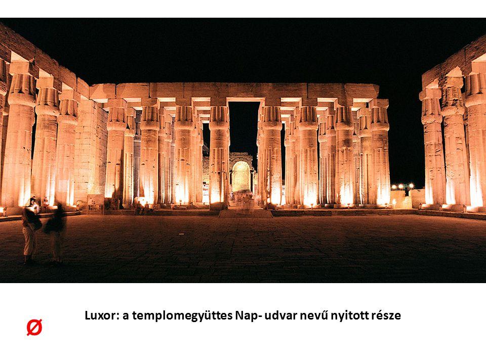 Luxor: a templomegyüttes Nap- udvar nevű nyitott része