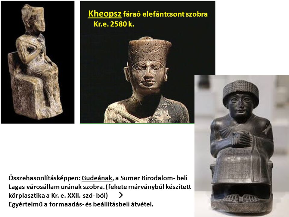 Kheopsz fáraó elefántcsont szobra