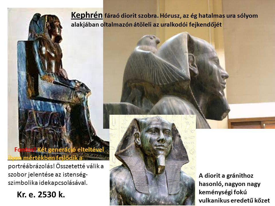 Kephrén fáraó diorit szobra