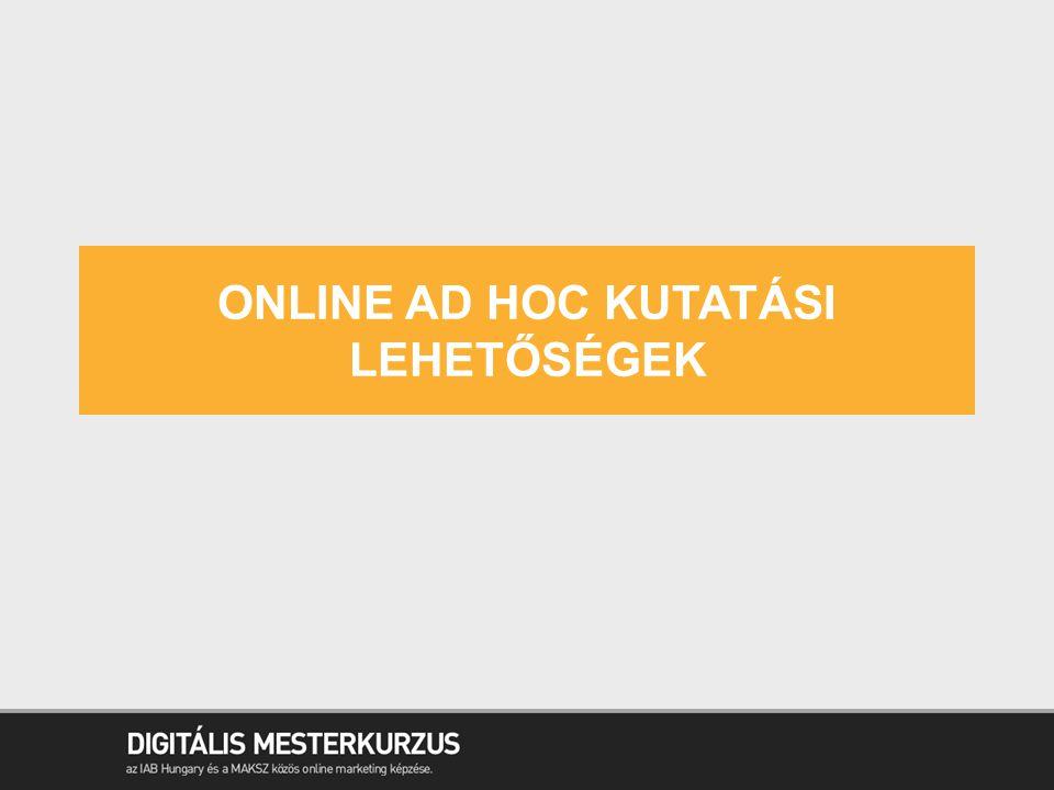 Online Ad hoc kutatási lehetőségek