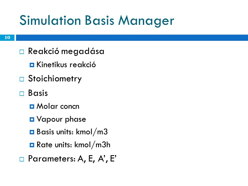 Simulation Basis Manager