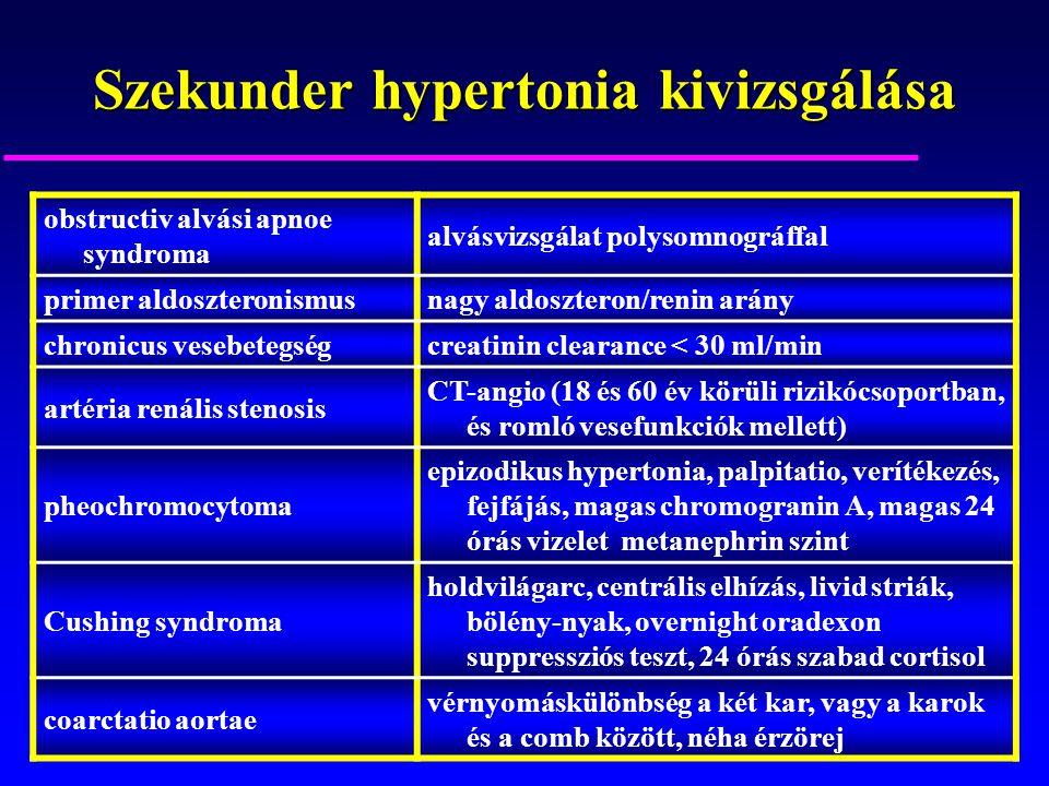Szekunder hypertonia kivizsgálása