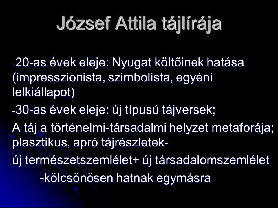 József Attila tájlírája