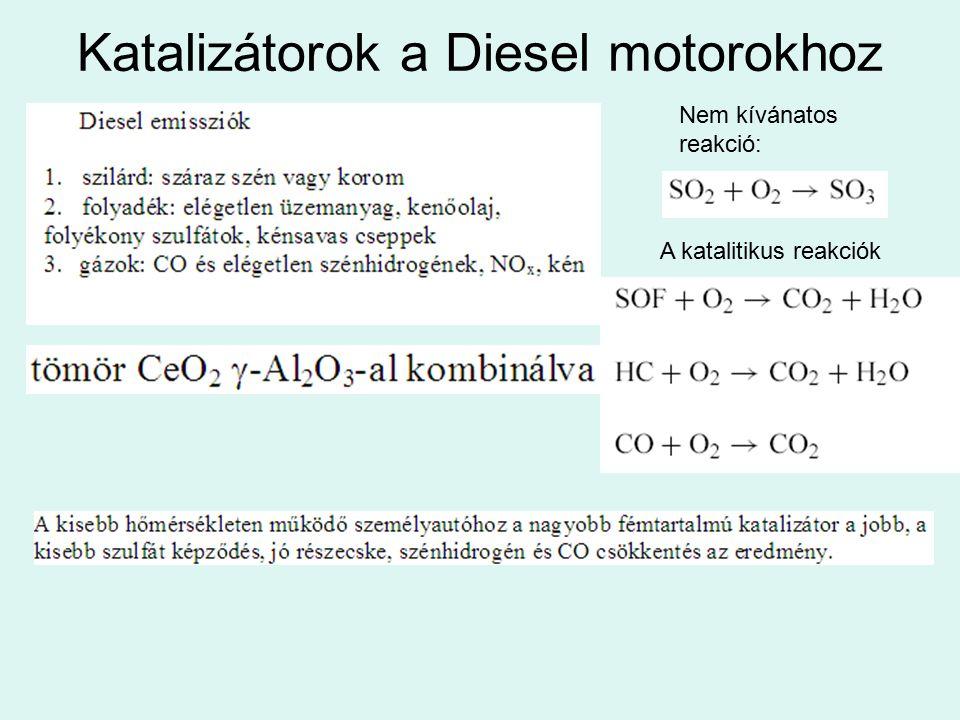 Katalizátorok a Diesel motorokhoz