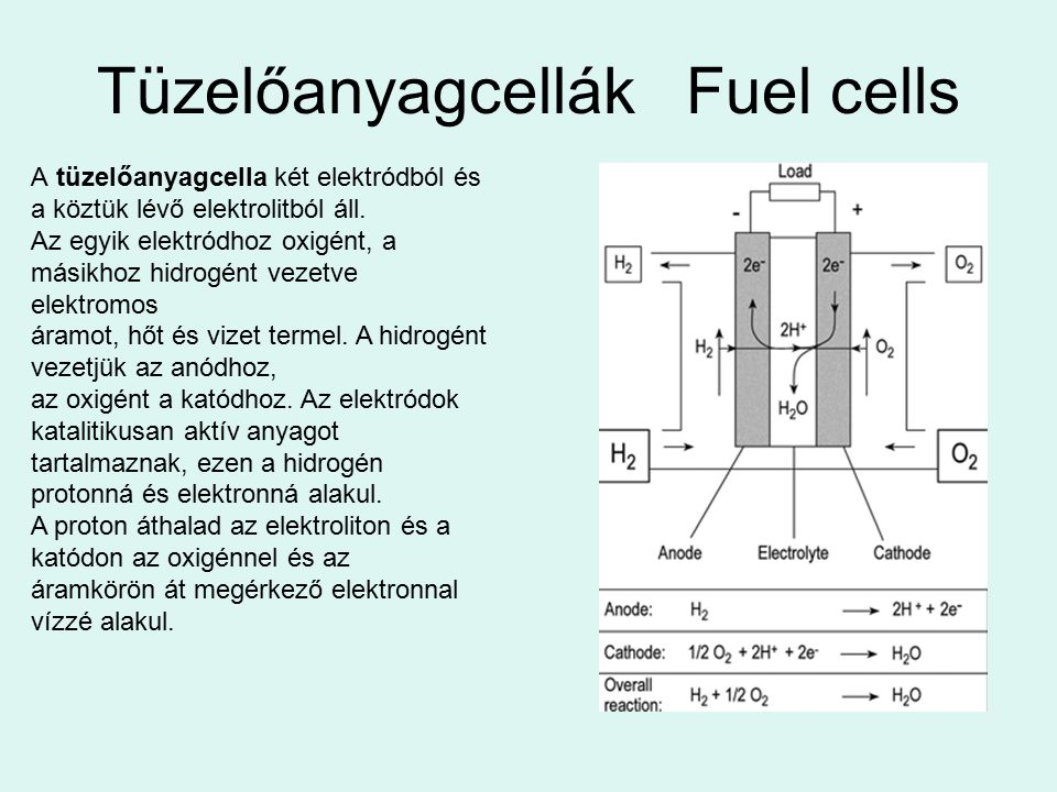 Tüzelőanyagcellák Fuel cells