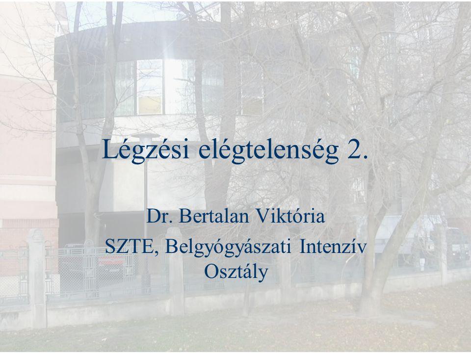 Dr. Bertalan Viktória SZTE, Belgyógyászati Intenzív Osztály