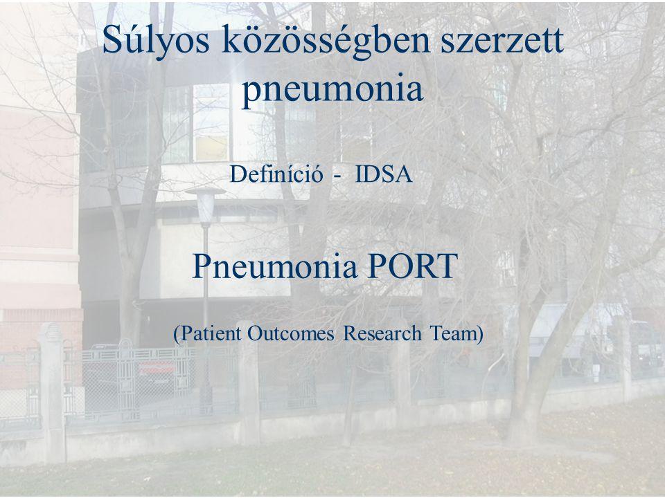 Súlyos közösségben szerzett pneumonia